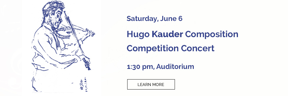 Hugo Kauder Composition Competition Concert